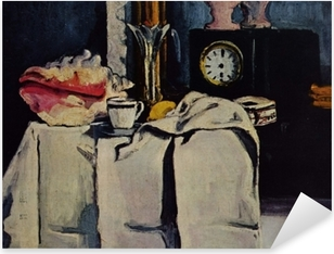Paul Cézanne - The Black Marble Clock Pixerstick Sticker