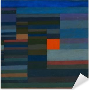 Pixerstick Sticker Paul Klee - Vuur in de avond