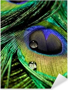 Pixerstick Sticker Pauwenveer druppels