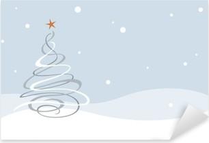 Sticker Pixerstick Paysage de Noël