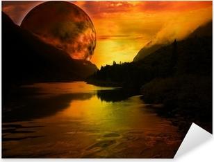 paysage fantastique Pixerstick Sticker