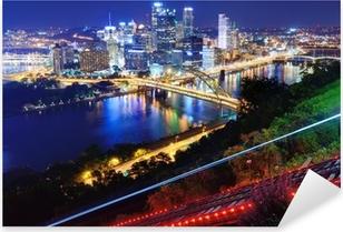 Sticker Pixerstick Paysage urbain de Pittsburgh