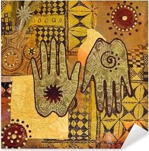 Sticker Pixerstick Peinture à la main