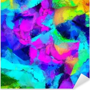 Sticker Pixerstick Peinture abstraite colorée. Rendu 3D