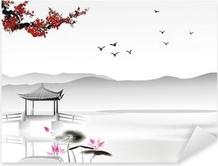 Sticker Pixerstick Peinture chinoise