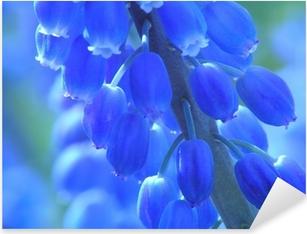 Sticker Pixerstick Perle bleue jacinthe d'