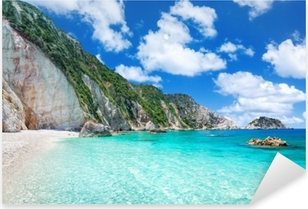 Petani beach, Kefalonia, Greece Pixerstick Sticker