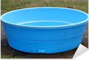 petite piscine en plastique Pixerstick Sticker