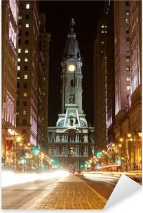Philadelphia streets by night Pixerstick Sticker