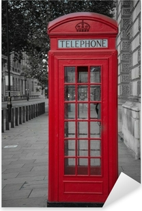 phone booth in london Pixerstick Sticker