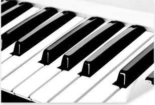 piano keyboard Pixerstick Sticker