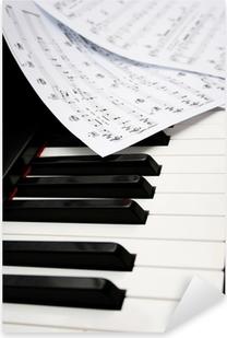 Pixerstick Sticker Piano met bladmuziek