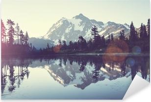 Picturesque lake Pixerstick Sticker