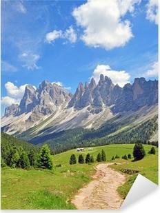 Pixerstick Sticker Pieken van de berg in de Alpen