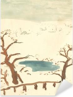 Pixerstick Sticker Pierre Bonnard - Zimní krajina