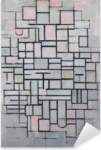 Piet Mondrian - Composition nr 4 Pixerstick Sticker