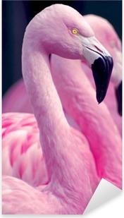 Pink Flamingos Pixerstick Sticker