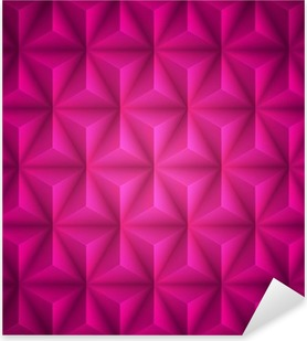 Pink Geometric abstract low-poly paper background. Vector Pixerstick Sticker