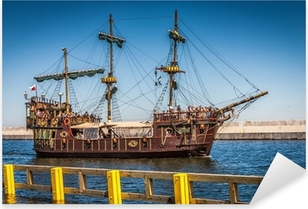 Pirate galleon ship on the water of Baltic Pixerstick Sticker