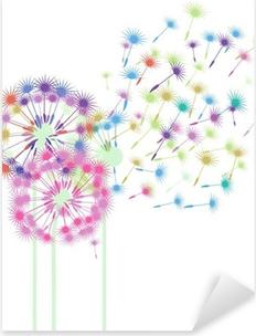 Sticker Pixerstick Pissenlits colorés