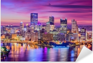Pittsburgh, Pennsylvania, USA Pixerstick Sticker