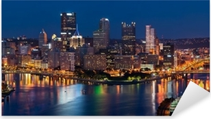 Sticker Pixerstick Pittsburgh skyline panorama.