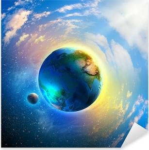 Planet Earth Pixerstick Sticker