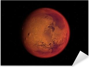 Sticker Pixerstick Planète mars