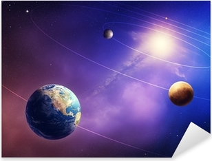 Sticker Pixerstick Planètes intérieures du système solaire