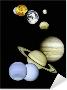 Planets in outer space. Pixerstick Sticker