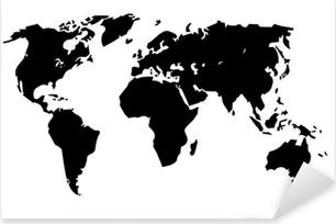 Planisphère Grand Format Pixerstick Sticker