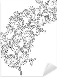 Sticker Pixerstick Plante ornementale