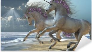 Playing Unicorns Part 2 Pixerstick Sticker