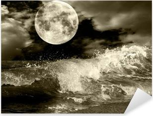Sticker Pixerstick Pleine lune
