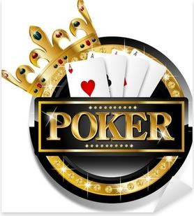 Poker icon Pixerstick Sticker