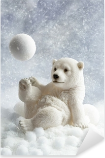 Sticker Pixerstick Polar Bear Décoration