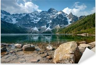 Polish Tatra mountains Morskie Oko lake Pixerstick Sticker