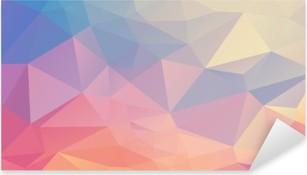 Sticker Pixerstick Polygone coloré