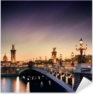 Pont Alexandre III, Paris Pixerstick Sticker
