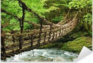 Pont de lianes et bambou Kazura-bashi à Oku Iya, Shikoku Pixerstick Sticker