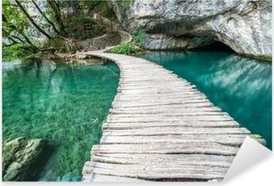 Ponte di Plitvice Pixerstick Sticker