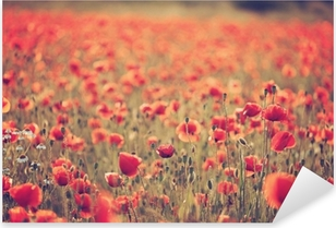 Poppy field Pixerstick Sticker
