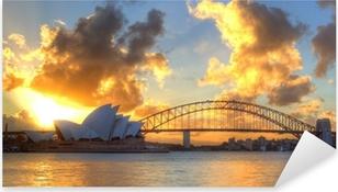 Sticker Pixerstick Port de Sydney avec l'opéra et le pont