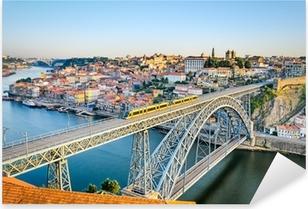 Sticker Pixerstick Porto avec le pont de Dom Luiz, Portugal