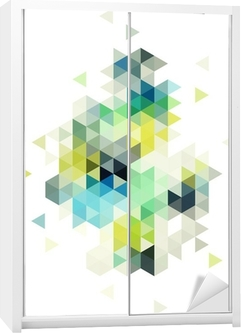 Sticker pour Armoire abstract low poly background, vector