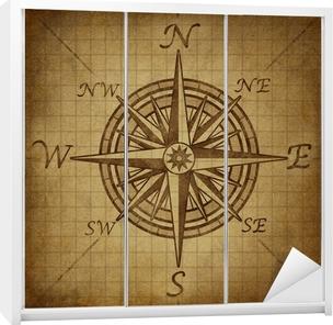 Sticker pour armoire Compass rose avec une texture grunge