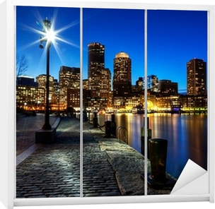 Sticker pour armoire La ville de Boston FP543