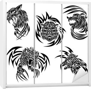 Sticker Les Animaux Sauvages Tatouage Pixers Nous Vivons Pour Changer