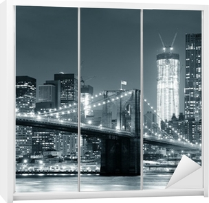 Sticker pour Armoire New york city brooklyn bridge