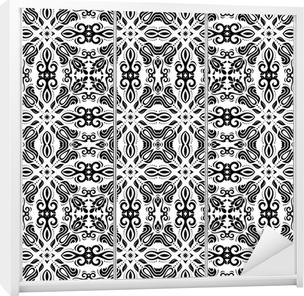 Sticker pour armoire Seamless géométrique. Résumé Contexte